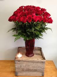 dozen of roses 4 dozen vase in cambridge ma coady florist