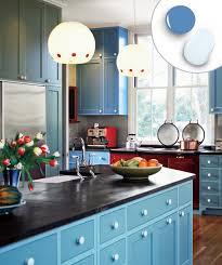 blue painted kitchen cabinets akioz com