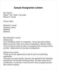 one day resignation letter resignation email samples art resume
