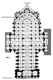 Gothic Architecture Floor Plan Cathedral At Chartres