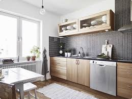 cuisine bois clair cuisine bois et blanc ikea