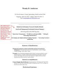 career change resume template restaurant manager career change resume best of resume free
