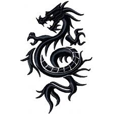 machine embroidery design tribal dragon design 1