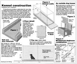 Dog House Floor Plans Building A Canine Kennel System Gun Dog House Door Company Cinder