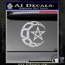 crescent moon and decal sticker tribal a1 decals