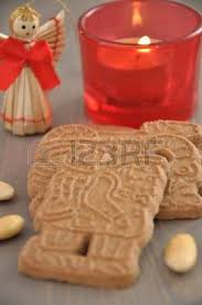 spekulatius spiced cookies with almond stock photo picture and