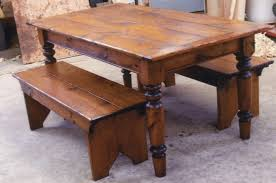 Rustic Dining Room Bench Kitchen Small Round Dining Table Kitchen Set Breakfast Table