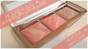 hourglass ambient strobe lighting blush palette hourglass ambient lighting blush palette review swatches youtube