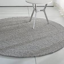 Rounds Rugs Crate Barrel Markus Steel 6 5 Rug Rugs Grey Rugs