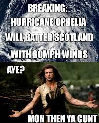 Scottish Meme - we scots fear nae hurricane scottish memes and banter facebook