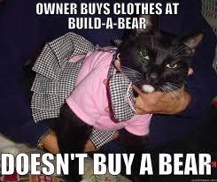 Build A Bear Meme - first world cat problems quickmeme