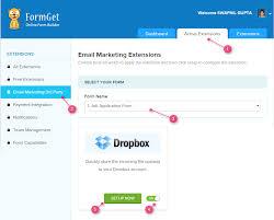 Resume Dropbox Form Dropbox Uploader In Formget Formget