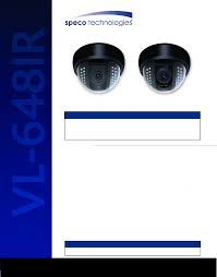speco technologies security camera vl 648irvf user guide