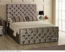 Velvet Bed Frame Ella Gas Lift Ottoman Storage Bed Frame Available In Crush Velvet
