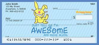 it s happy bunny personal checks