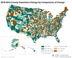 map of carolina 2010 2014 county population change and components of change