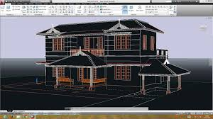 Cool Cad Drawings Autocad Double Storied 3d House Preparing The Plan For Youtube