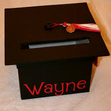 Unique Graduation Card Boxes Graduation Mortar Board Card Box 20 00 Via Etsy Graduation