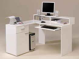 White Small Computer Desk by Home Design White Computer Desk Wooden Office Furniture Intended