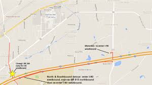 Mentor Ohio Map by Lake County State Route 306 Ramp To I 90 West Closed Nights