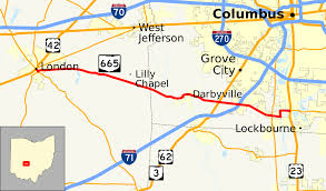 Central Ohio Map by Ohio State Route 665 Wikipedia