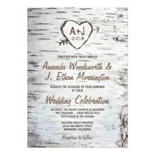 Rustic Invitations Tree Carved Heart Rustic And Vintage Wedding Card Zazzle Com