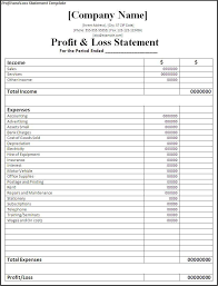Profit And Loss Statement Template Excel Simple Financial Report Template Monthly Statement Template