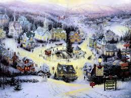thomas kinkade christmas village painting temasistemi net
