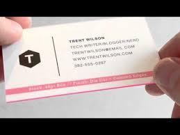 Matt Laminated Business Cards Silk Matte Laminated Business Cards Youtube