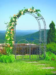 large garden arbor iron patio archway gate wedding arch trellis