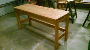 Bench Made From 2x4 Simple 2x4 Desk By Ebturner On Deviantart