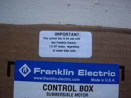 news 1 5 hp control box model change north america water