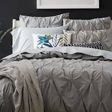 How To Change A Duvet Cover Organic Cotton Pintuck Duvet Cover Shams West Elm
