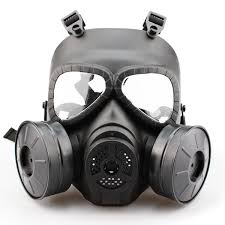 halloween gas mask costume gas mask double filter fan cs edition perspiration dust face guard