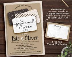 gift card shower invitation gift card shower invitation wedding shower bridal shower