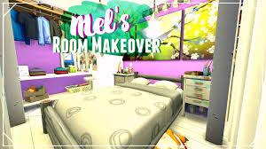 mel u0027s bedroom room makeover sims 4 interior design youtube