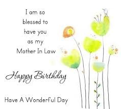 handmade card mother in law birthday greeting e card with best