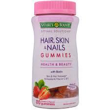 nature u0027s bounty optimal solutions hair skin u0026 nails gummies