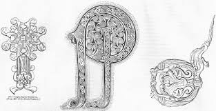 saxons ornaments letters 8th 10th century 1845