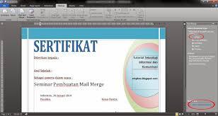 cara membuat mail merge di word 2013 langkah langkah membuat mail merge pada ms word catatan bro ari
