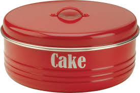 Red Canisters For Kitchen Amazon Com Typhoon Red Cake Tin 4 5 Quart Capacity Home U0026 Kitchen