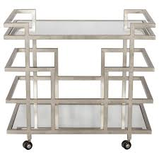 Bar Mirror With Shelves by Worlds Away Bar Cart With Mirror Shelves U2013 Silver Leaf Scenario Home