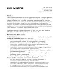 Sample Resume For Tax Accountant by 28 Tax Intern Resume Sample Tax Accountant Resume Example Free