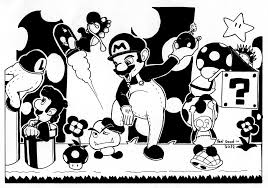 stunning bros wii colouring pages page with super smash bros