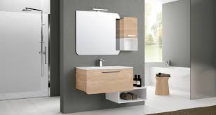 wall hung washbasin cabinet wooden pvc contemporary rond 1