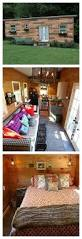 a retro style tiny house designed and built for a military family