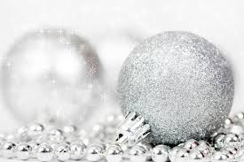 sparkling background with silver decorations