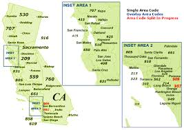 map of area codes find california area codes by map