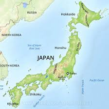Russia Physical Map Physical Map by Japan Physical Map