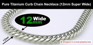 titanium curb chain necklace images Pure titanium curb chain necklace 12mm super wide version 60cm jpg